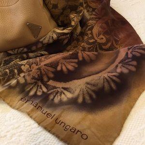 Emanuel Ungaro hand rolled large scarf